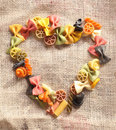 Colorful beauty Pasta Heart Royalty Free Stock Photo