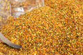 Colorful bee pollen