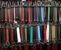 Colorful belts rows with lots of Royalty Free Stock Photo