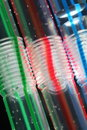 Colorful bendy straws Royalty Free Stock Photos