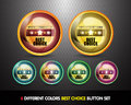 Colorful Best choice button set Stock Image