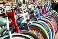 Colorful bicycles Stock Images