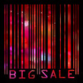 Colorful big sale bar code eps vector file included Royalty Free Stock Photography