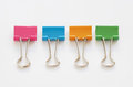Colorful binder clips Royalty Free Stock Photo
