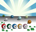 Colorful bingo balls Royalty Free Stock Photography