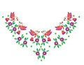 Colorful bird and flower with leaf and dot embroidery stitches i