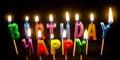 Birthday Cake candles lit Royalty Free Stock Photo