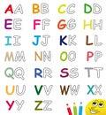Colorful & Blank Alphabet Lett...