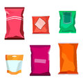 Colorful blank boil food snack packaging for chocolate cookies, sweets, sugar, pepper, coffee, spices, salt, chips
