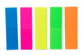 Colorful blank note sticker strips set Royalty Free Stock Photo