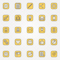 Colorful blog icons collection