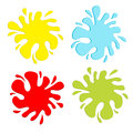 Colorful blot splash set. Inkblot. Flat design. Stock Images