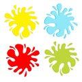 Colorful blot splash set. Inkblot. Flat design. Stock Images