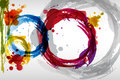 Colorful blots background of painting style Stock Image