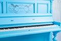 Colorful Blue Upright Piano