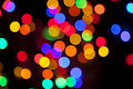 Colorful blurred bokeh lights Stock Photo