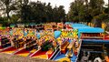 Colorful boats waiting for tourists. Royalty Free Stock Photo