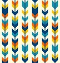 Colorful bohemian aztec arrows pattern