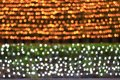Colorful bokeh light night background two tone wall, gold and nature background blurred bokeh bright, texture lighting
