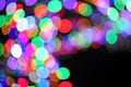 Colorful bokeh light texture blur abstract background Stock Images
