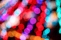 Colorful bokeh light texture blur abstract background Stock Photos