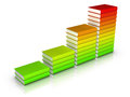 Colorful books chart Royalty Free Stock Photos