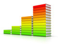Colorful books graph Stock Images
