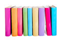 Colorful books isolated on a white background Royalty Free Stock Images