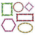 Colorful border frames Royalty Free Stock Photo
