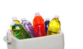 Colorful bottled drinks Royalty Free Stock Photo