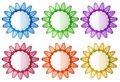 Colorful botts illustration of the on a white background Royalty Free Stock Photo