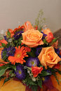Colorful bouquet flowers autumn wedding Royalty Free Stock Photo