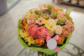 Colorful Bouquet  With Roses. ...