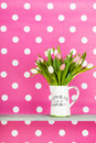 Colorful bouquet tulips Royalty Free Stock Photo