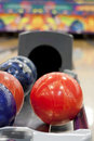 Colorful bowling balls Royalty Free Stock Image