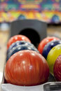Colorful bowling balls Royalty Free Stock Photos