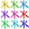 Colorful bows isolated Royalty Free Stock Image