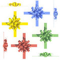 Colorful bows and ribbons set  Royalty Free Stock Images