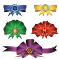 Colorful bows to decorate gifts souvenirs postcards and greetings Stock Image