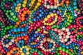 Colorful bracelets multi color background Royalty Free Stock Photo