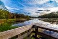 Colorful Brazos Bend Lake. Royalty Free Stock Photo