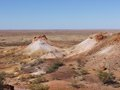 The colorful breakaways in the outback australia colourful landscape of with mountains and hills near coober pedy south Stock Photos