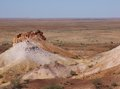 The colorful breakaways in the outback australia colourful landscape of with mountains and hills near coober pedy south Royalty Free Stock Photography