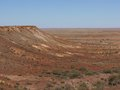 The colorful breakaways in the outback australia colourful landscape of with mountains and hills near coober pedy south Royalty Free Stock Images