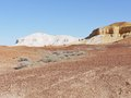 The colorful breakaways in the outback australia colourful landscape of with mountains and hills near coober pedy south Stock Photography