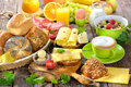 Colorful breakfast Royalty Free Stock Photo