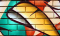 Colorful brick wall Royalty Free Stock Photo