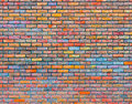 Colorful brick wall texture Royalty Free Stock Photo