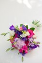 Colorful bridal bouquet a on the white background Stock Image