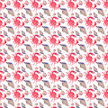 Colorful bright beautiful lovely summer sea tasty delicious pattern of red crabs and tender pastel seashells watercolor hand illus
